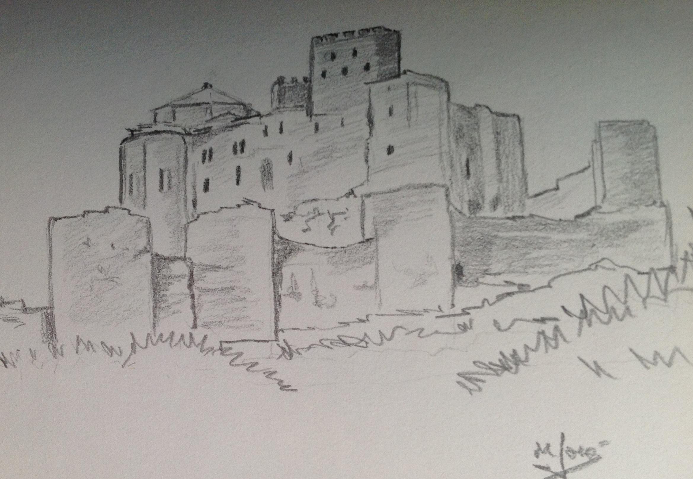 Castillo de Loarre  Tintero y pincel